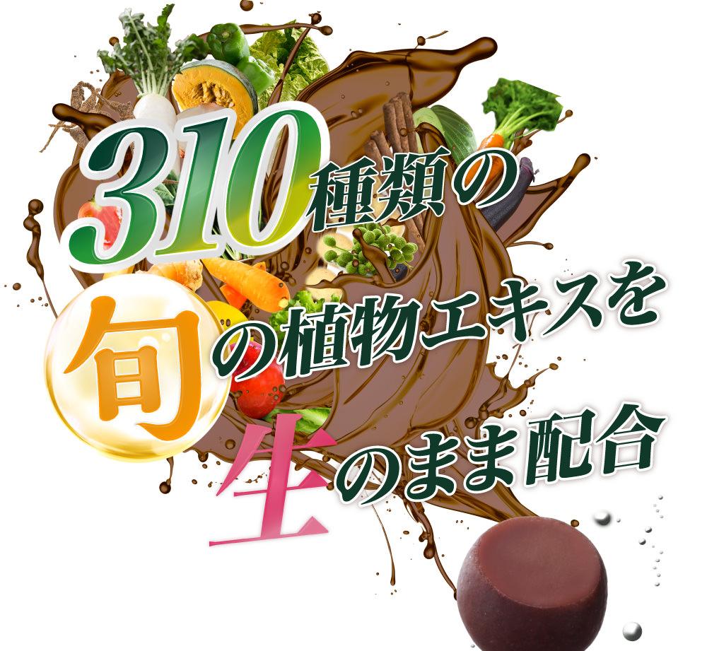 310種類の旬の植物発酵エキスを生のまま配合